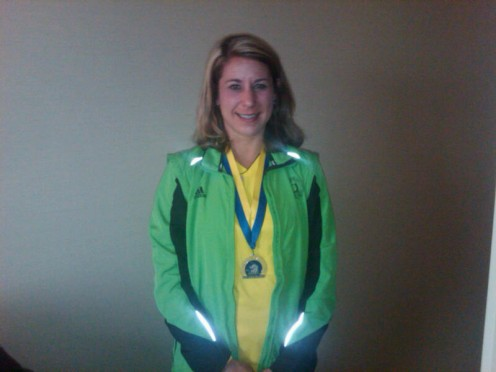 Post-Boston Marathon - proudly wearing the medal