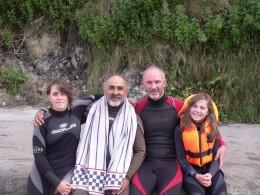 Richard & Xavier with Clara and Ruth