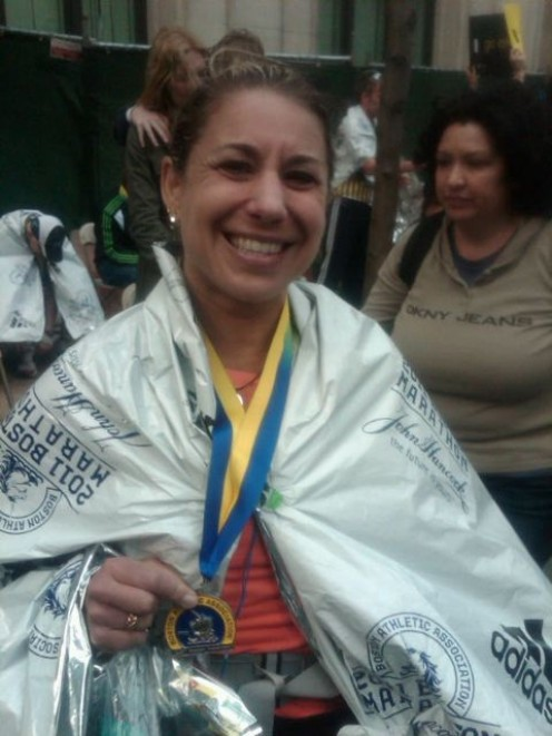 Happy finisher of the 2011 Boston Marathon