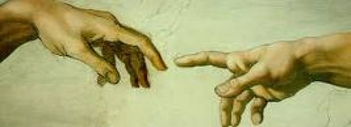 The Hand of God extended to Adam