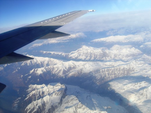 From the air, the approach is spectacular with Turin sitting at the foot of the Alps