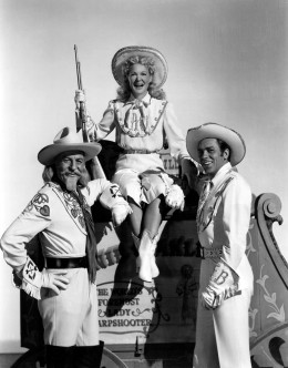 Annie Get Your Gun. Betty Hutton and Howard Keel. http://www.youtube.com/watch?v=JY7Hh5PzELo