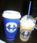 Two kinds of durian iced coffee in Blugre.