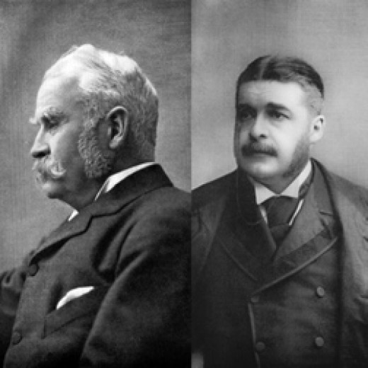 Gilbert (Right) and Sullivan (Left)