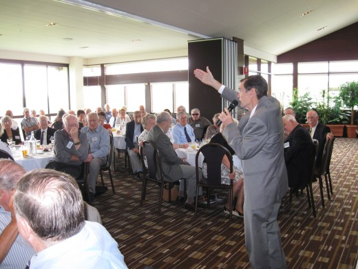 A recent presentation.   The gestures come naturally when you're right 'in the moment.'