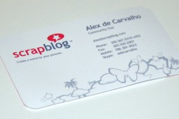 A blogger's business card