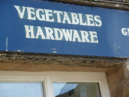 The local shop has to sell everything!