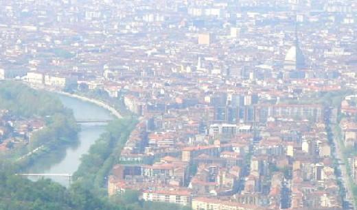 view of Torino from Basilica Superga