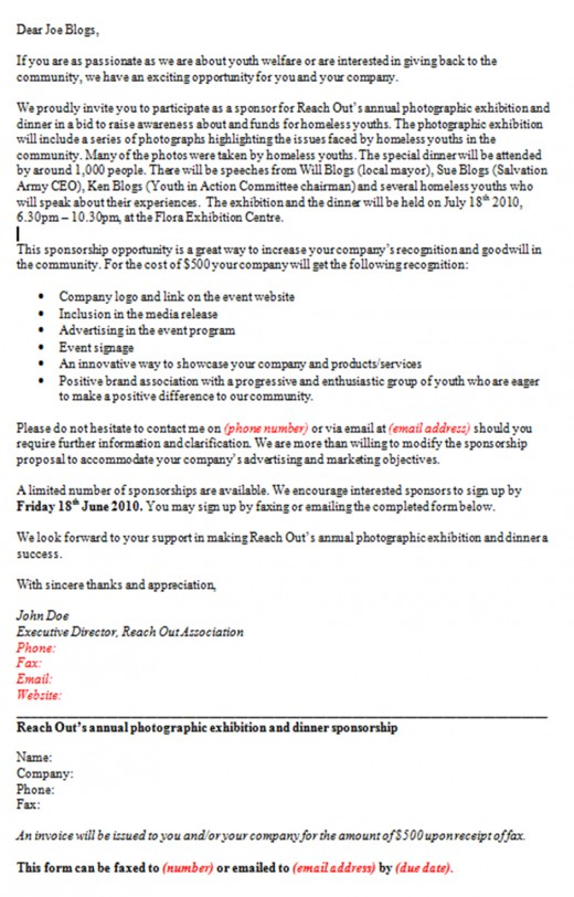 Example Of A Proposal Letter For Sponsorship 40 Sponsorship – Proposal Letter for Sponsorship Sample for Event