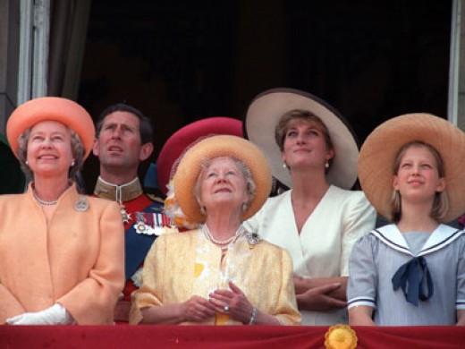 The British Royal Court (still with Princess Diana)