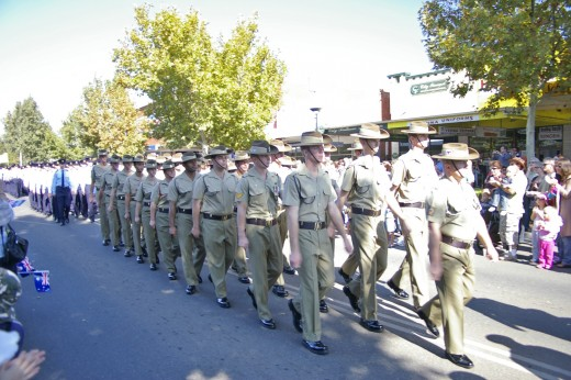 Anzac Day Marches are held throughout the country. This one is from Wagga Wagga.