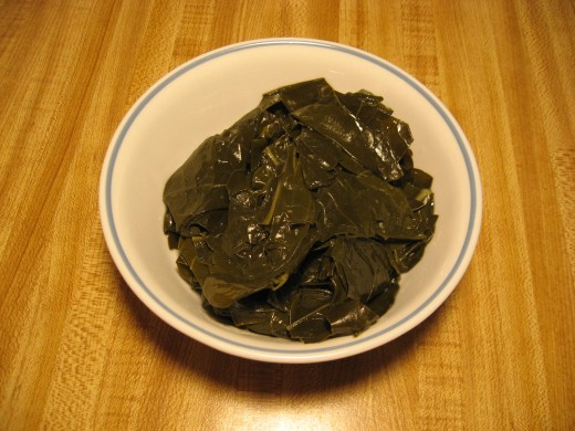 Image C -  These cooked broccoli greens look, feel and taste just like cooked collard greens.  Try some!