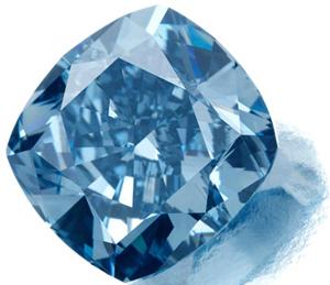 Natural blue diamond