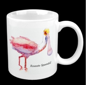 If you are now hooked on the Roseate Spoonbill, here's a mug for you!