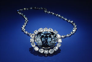 The Hope Diamond in the Cartier setting