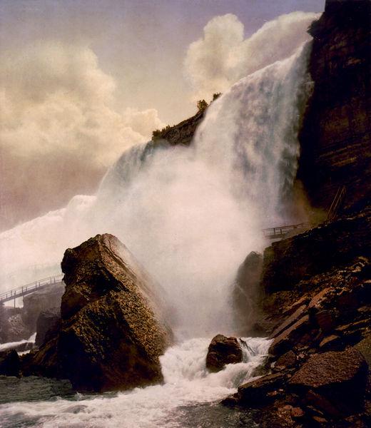 Niagara Falls, American Fall and Rock of Ages, circa 1898.