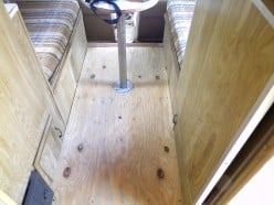 Although the floor was not completely ruined, an extra layer of plywood was added to ensure a solid floor.