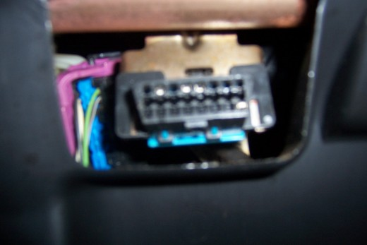 It is tough to get a clear PIcture from under the dash