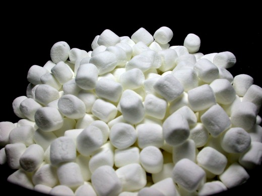 Marshmallows are perfect for sprinkling on your Sweet S'Mores Pie!
