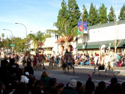 Use a canopy to provide shade at parades. This is the annual Rose Bowl Parade in Pasadena CA.