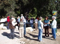 This is an Educational Habitat Walk. There were many tables about local bird life, the watershed, and more that could have used canopies to keep presenters shaded.