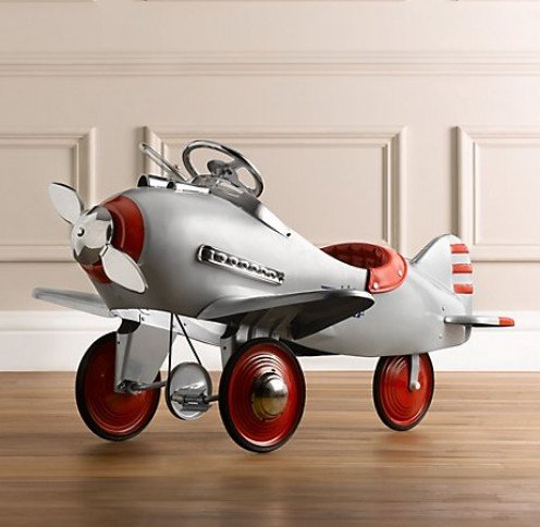 Too cute. A pedal plane. Image from Retro Antiques