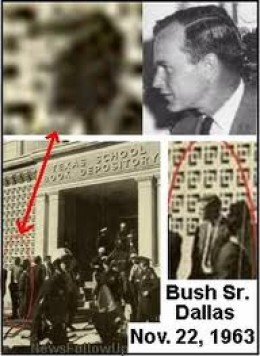 "Comparison of G. H. W. Bush profile to that of ""unknown"" person outside the Texas School Book Depository"