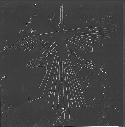 Condor figure in two thousand year old Nazca lines in southern Peru Picture: http://www.onagocag.com/nazca.html