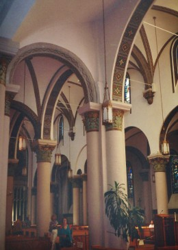 Interior photo of the St. Francis Cathedral in Santa Fe