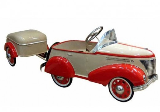 Oh, I could eat this. Restored art deco pedal car