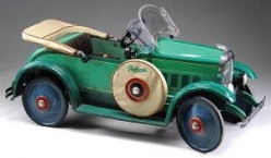 Gendron Packard pedal car from the 1920s. Image from Antique Trader