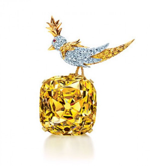Bird on a Rock by Jean Schlumberger featuring the Tiffany Diamond