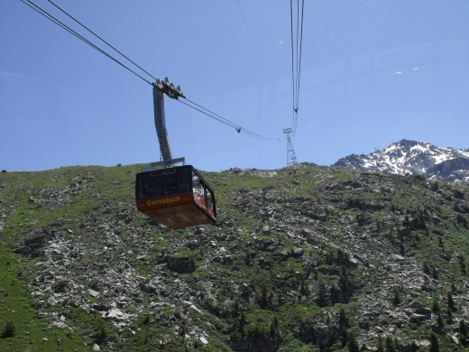 One of the numerous cable cars.
