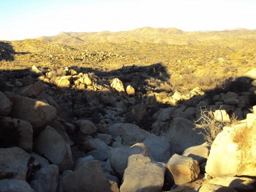 View of the backside of the San Bernardino Mountains.