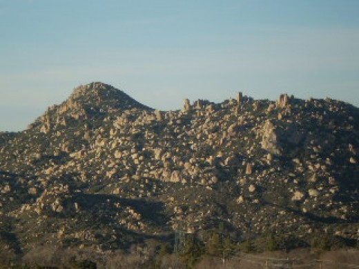 Another artistic photograph of The Pinnacles up in the San Bernardino Mountains.