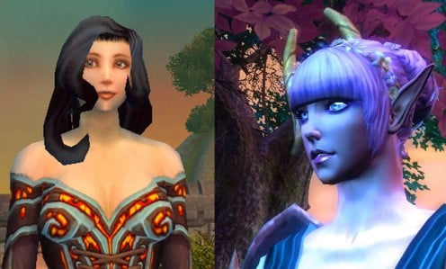 Left: WoW female. Right: RIFT female