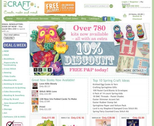 RUCraft has a growing range of craft products, with discounted prices, competitions and a whole lot more!