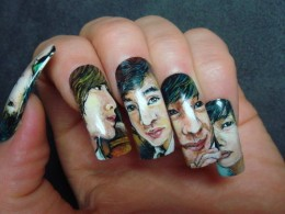japanese art is great and very detail, you can pretty much paint a face on a nail.  I love this idea.