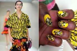 These banana nails are cute I don't know about the shirt though.