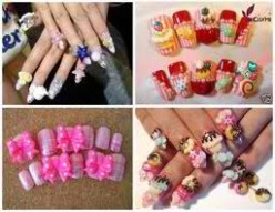 Nails are great as they feature favorite desserts, too cute .