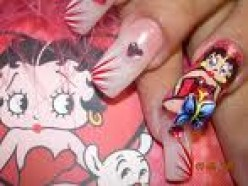 Betty Boop america's favorite pinup is now featured on nails as well.