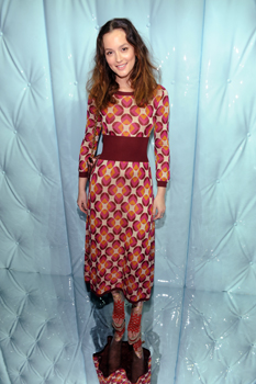 Leighton Mesteer wearing a Retro Print dress.