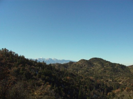 The view of Mount Baldy in the distance.