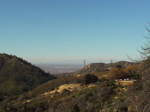 The amazing view on the way looking down towards Hesperia.