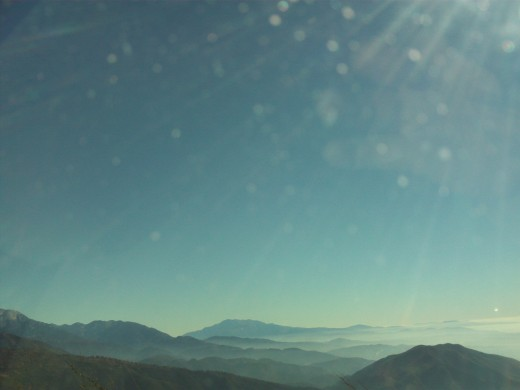 The view from the Rim of the World Highway.