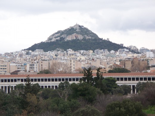 Lykavittos Hill in Athens, Greece