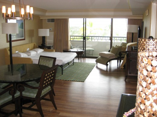 A suite at The Hilton Waikola Village.