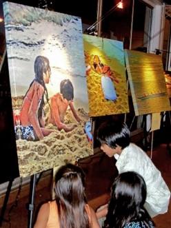 Kids at my Art exhibit
