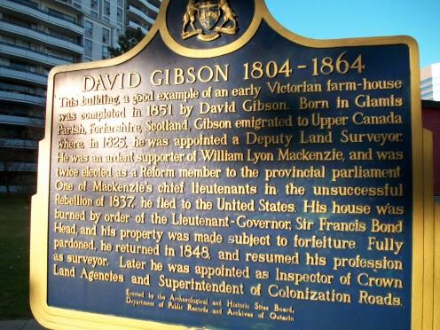 Historical panel re. David Gibson (1804-1864)