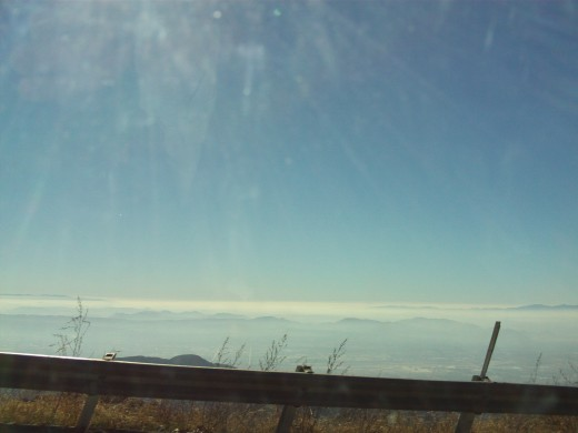 A thin cloud cover above the Inland Valley.